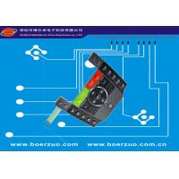 Polyester Tactile Textured LED Membrane Switch With Metal Dome Push Button Manufactures