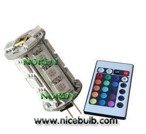 Led G4 bulb Remote Control RGB G4 Led Light/Bulb 18SMD 4W Manufactures