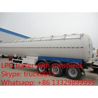 factory price 60 CBM Tri axles LPG gas tank semi trailer for sale, high quality lpg gas propane tank trailer for sale Manufactures