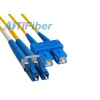LC to SC Fiber Optic Patch Cord Single Mode Fibre Optic Patch Leads for FTTH Network Manufactures