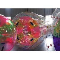 Water Game Colorful Inflatable Water Roller 1.0mm PVC Fire - Resistence Manufactures