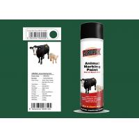 Dark Green Color Marking Spray Paint , Animal Marking Paint  With REACH Certificate Manufactures