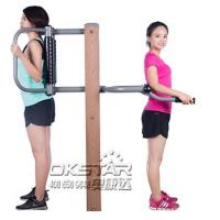 outdoor fitness equipment park wood outdoor back stretching device Manufactures