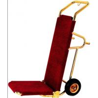 Titanium Plated Baggage Trolley With Rubber Wheel , 460*560*1180mm Manufactures