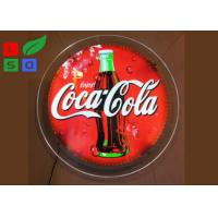 Quality Round Shaped LED Crystal Light Box Diameter 600mm With LGP 6mm Laser Dots for sale