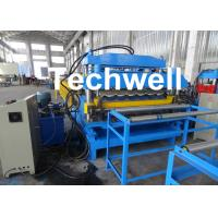 18 Forming Stations Automatic Double Layer Forming Machine For Roof Wall Panels With PLC Control Manufactures