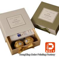 Eco Friendly Custom Printed Packaging Boxes , Wedding Chocolate Packaging Drawer Gift Box Manufactures