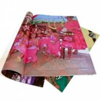 Quality Printing Trade Magazines with 4p, 250gsm C2S art paper and ISO9001:2000, SGS-COC for sale