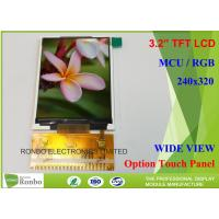 Customizable LCD Screen 3.2 Inch 240x320 TFT LCD Display Option Touch Panel Manufactures