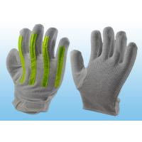 Interlock Finger Reflective Gloves For Directing Traffic , Cotton Hand Gloves Velcro Type Manufactures