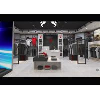Casual Wear Shop Clothing Display Case , Brand Unique Design Clothes Hanger Stand Manufactures