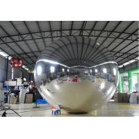 2M Slivery Inflatable Mirror Ball , Large Helium Balloons For Advertising Manufactures