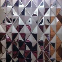 SUS304 Stainless Steel Embossing Sheets ,PVD Color Decoration Sheets 1250mm 1500mm Rose gold, Brown, Bronze Manufactures