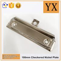 Checkered Nickel Plate Metal 10 CM Clipboard Hardware Metal Clip Manufactures