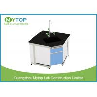 Steel And Wood Modern Lab Furniture Conner Lab Desk With PP Sink And Water Tap Manufactures