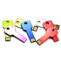 Stylish Metal Flash USB Thumb Drives Key Shaped Memory 64MB - 64GB Manufactures