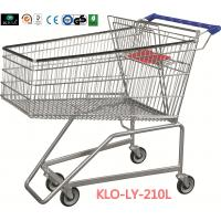 210L Grocery Disabled Shopping Trolley With Base Grid / 2 Years Warranty Manufactures