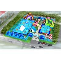 0.55mm PVC Tarpaulin Material Inflatable Water Toys For Amusement Park Manufactures