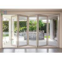 Aluminum Double Glazed Folding Sliding Mosquito Screen Accordion Bi-fold Door Manufactures