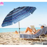 6FT 1.8m Patio Custom Portable Travel Beach Sun Umbrella Shelter With Powder Coated Frame Manufactures