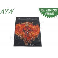 Reclosable Sniff / Smell Proof Zipper Bags For Botanical Incense Spices
