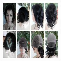 "Human hair full lace wig 10""-26""L 4#/1b#color curly indian remy hair,120%-180% density Manufactures"
