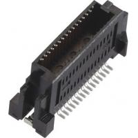 Male 0.635mm Board to Board Connector Gold-plated LCP Black/Natural (UL94V-0) Manufactures