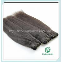 Chinese 5A virgin hair weave ,natural color,yaki straight hair extension 10''-26''length Manufactures