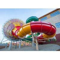 Quality Fiberglass Tornado Water Slide Factory In China Outdoor Amusement Park Equipment for sale