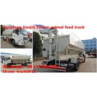 dongfeng 4*2 LHD 170hp 12cbm bulk feed delivery truck for sale, farm-oriented and livestock feed pellet transportd truck Manufactures