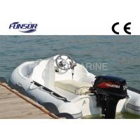 Rigid Hull Inflatable Yacht Tenders , Three Person Motorized Inflatable Boats Manufactures