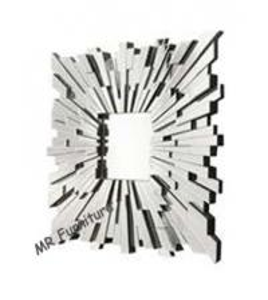 Square Glass Decorative Mirrors For Bathrooms, Sunburst Facet Wall Decor Mirrors Manufactures