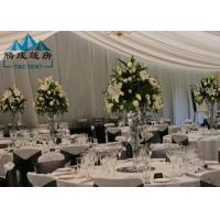 Long Life Span Outdoor Wedding Reception Tent For Party Banquet With Air Condition Manufactures