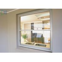 American Style Vertical Sliding Glass Window , Residential White Aluminium Windows Manufactures