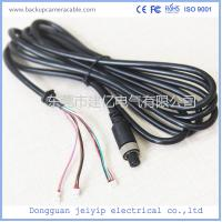 7 Pin 3 Terminal Extension Cable For Security Cameras , Black PVC Material Manufactures