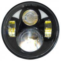 "Round Jeep Wrangler Jk Led Headlight 7"" Moto Led Projector Headlamp  7"" 80w Manufactures"