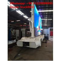 Quality Factory sale mobile up-straight LED billboard advertising semitrailer, outdoor mobile LED displays billboard vehicle for sale