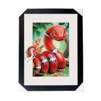 Amazing 5D 30*40CM Lenticular Picture With PS Frame / 3D Animal Images Manufactures