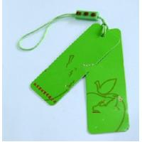 Customized Green Printed Cardboard Hang Tags Labals For Clothing / Jeans Manufactures