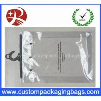 Custom Printing Clear EVA / PVC Hook bag / Hanger Packing Plastic Bag For Clothes Manufactures