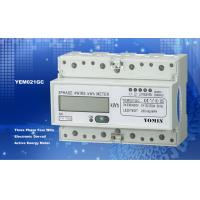 Ligth Weight 35mm Din Rail KWH Meter / Digital Meter Direct Mode With PC Material Manufactures