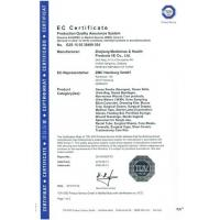 ZHEJIANG MEDICINES&HEALTH PRODUCTS I/E CO.,LTD Certifications
