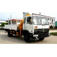 Quality DONGFENG 4x2 LHD/RDH 190HP diesel Folding Crane Truck 8tons-10tons for sale, cheapest price China 6.3tons truck crane for sale