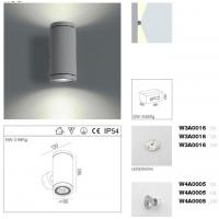 Architecture Outdoor LED Wall Lamp 6W Up / Down Exterior LED Wall Lights Manufactures