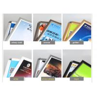 Wall Mounted Black Poster Picture Frames, Waterproof Silver Clip Frames For Exhibition Manufactures