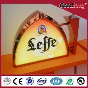 plastic metal 3d led waterproof anti-wind illuminated advertising decorated light box Manufactures