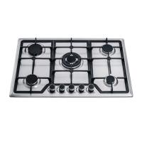 Stainless Steel Top Five Burner Gas And Electric Hob , Built In Gas Cooktop Manufactures