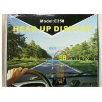 9V ~ 16Vdc Windscreen Speed Display Without Glare , E350 HUD Car Windshield Projector Manufactures