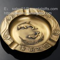 engraved metal cigarette ash trays