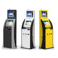 Buy cheap Airport / Bank / Hospital Dual Screen Kiosk Ticket Vending Kiosk With Vertical Ad Display from wholesalers